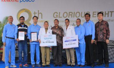 Donasi Gempa dari PT Krakatau Posco