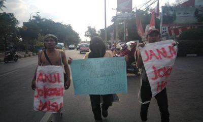 Pemuda Banten Jalan Kaki Menuju Istana Negara