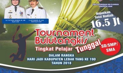 115 Pelajar Berebut Piala Bupati Lebak dalam Turnamen Bulutangkis