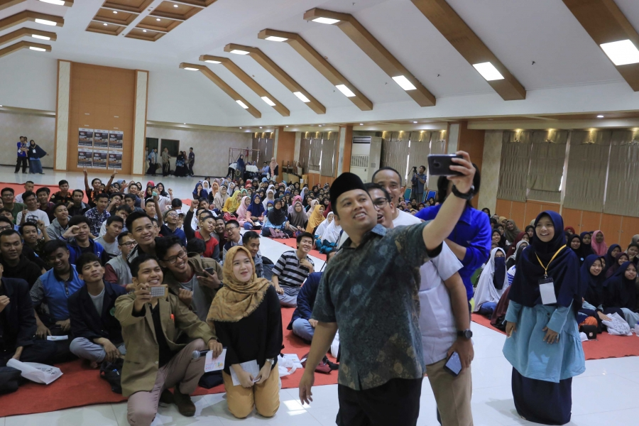 Wefie Bareng Pemuda Peserta Leadership Training Festival 4.0