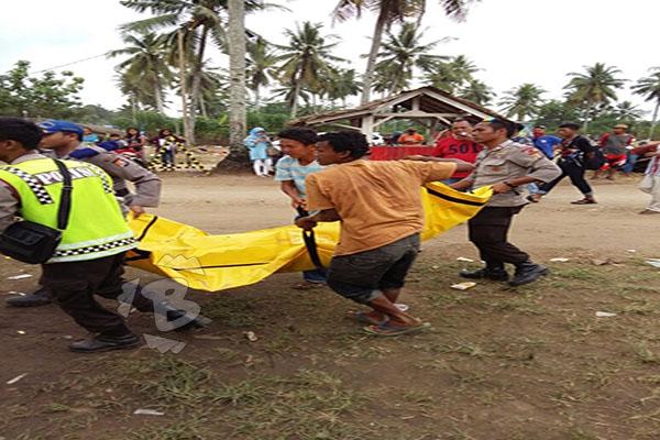Balawista Lebak Selamatkan Tiga Wisatawan Asal Bogor yang Terseret Ombak Pantai Legon Pari