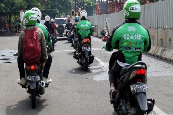 Puluhan Opang di Kabupaten Pandeglang Ramai-ramai Jadi Driver Go-Jek