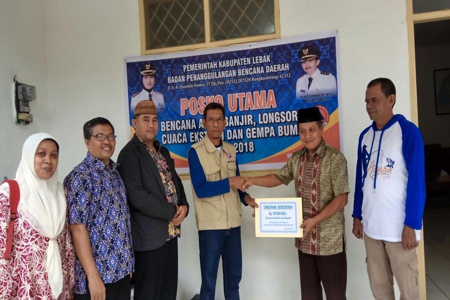 Pegawai Pemkot Tangerang Salurkan Bantuan Korban Gempa Lebak