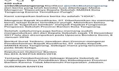 klarifikasi SMKN 4 Tangerang