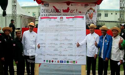 deklarasi damai pemilihan bupati dan wakil bupati tangerang