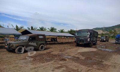 lomba renang dan dayung TNI AL di selat sunda