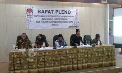 pleno rekapitulasi KPU Kota Serang