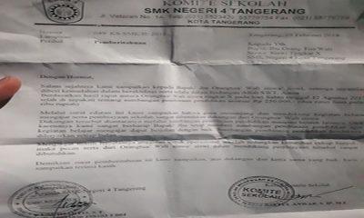 pungutan liar di SMKN 4 Kota Tangerang