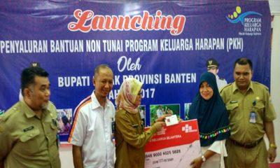 Launching Bantuan Non Tunai PKH di Lebak