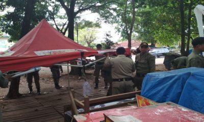 Penertiban PKL di Stadion Maulana Yusuf Kota Serang
