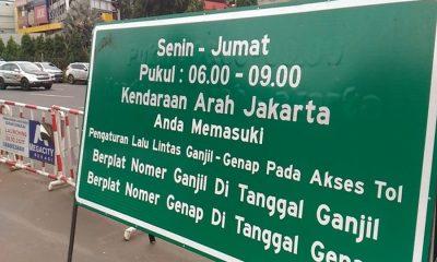 ILUSTRASI SISTEM GANJIL-GENAP DI TOL TANGERANG-JAKARTA (DETIK.COM)