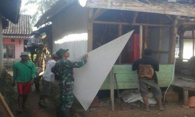 Kodim Lebak Perbaiki Rumah Warga