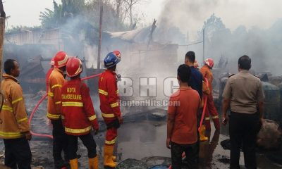 Pabrik Tiner Terbakar