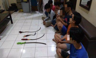 Pelaku Tawuran Diamankan Polsek Tangerang