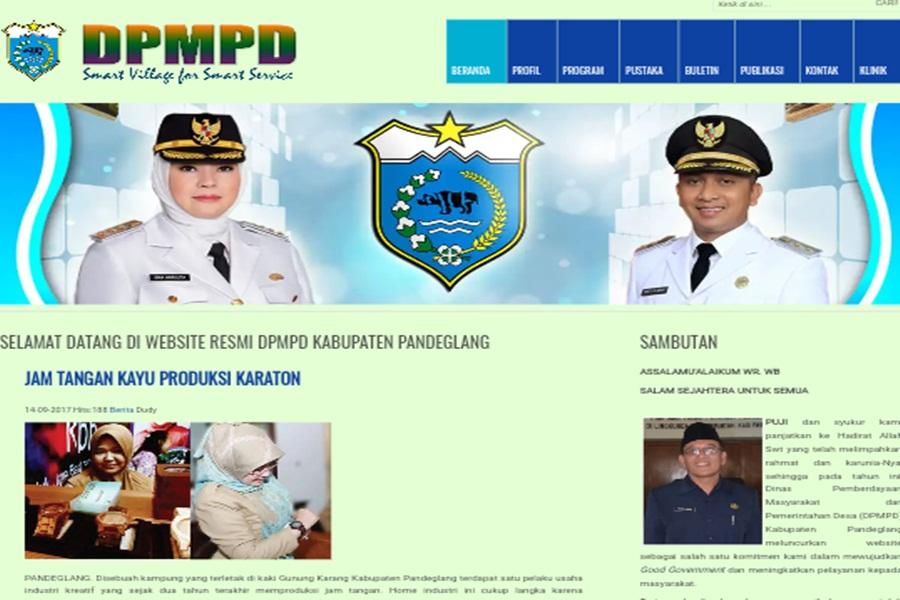 Website Dinas Pandeglang tak Update