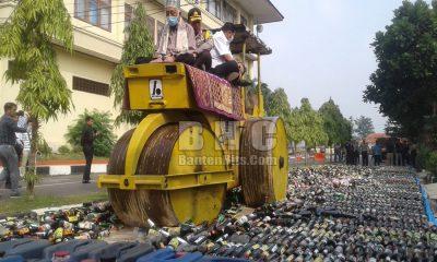 Kapolda Banten Musnahkan Miras