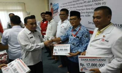 PMI Banten Serahkan Bantuan
