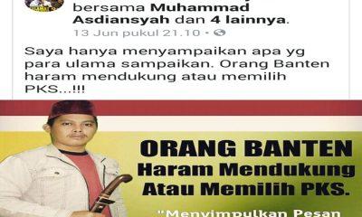 Postingan Orang Banten Haram Dukung PKS