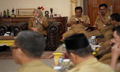 Irna Narulita Rakor Bersama Kepala OPD