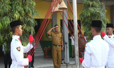 Upacara Bendera di SMKN 1 Rangkasbitung