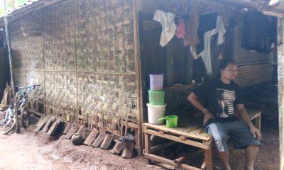 Keluarga di Rangkasbitung Tinggal di Gubuk