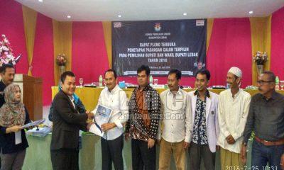 KPU Lebak Tetapkan Bupati dan Wakil Bupati Terpilih