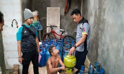 Pengoplos Gas di Pasar Kemis