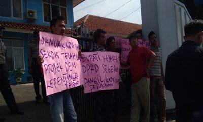 Demo di Dinas Perikanan Pandeglang