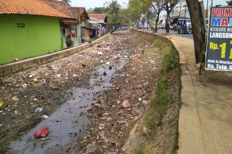 Sungai Cisadane Mengering