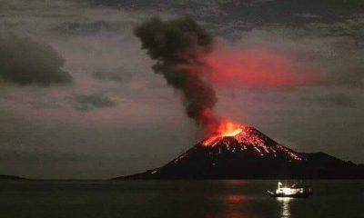 Aktivitas Gunung Anak Krakatau (tweeter Sutopo)
