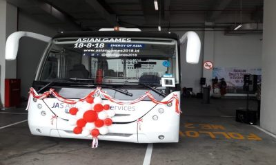 Bus Lower Deck di Bandara Soetta