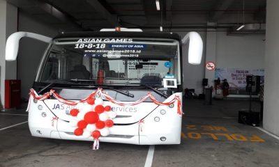 Bus Lower Deck di Bandara Soetta