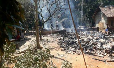 Kebakaran di Cigoong Utara Lebak