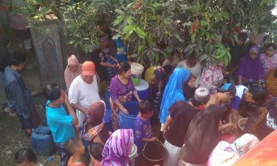 Krisis Air Bersih Melanda Tirtayasa, Warga Terpaksa Antre air