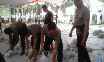 Polres Serang Kota Bagikan Daging Kurban