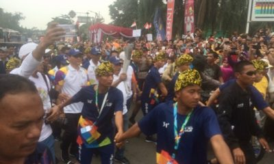 Plt Wali Kota Cilegon Arak Api Obor Asian Games 2018