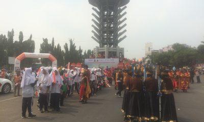 Ribuan Masyarakat Cilegon Sambut Api Obor Asian Games 2018