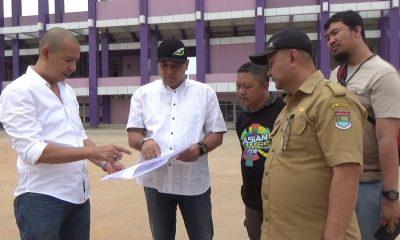 Zaki pantau stadion bertaraf internasional di kabupaten tangerang