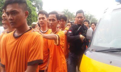 Anggota The Jakmania Ditangkap Polres Metro Tangerang Kota