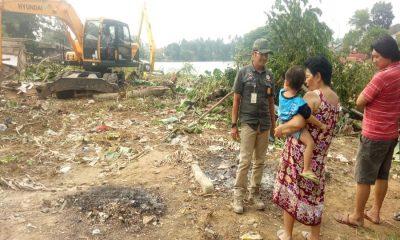 Penertiban Bangunan di Bantaran Sungai Cisadane