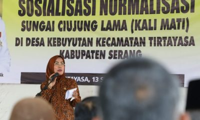 Bupati Serang Ratu Tatu Chasanah Sosialsiasi Normaliasi Sungai