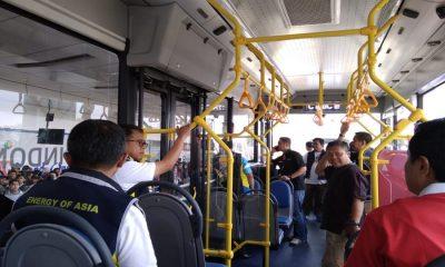 Bus Listrik di Bandara Soetta