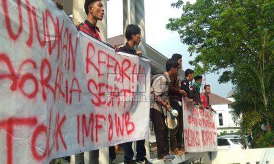 DEMO Gabungan Organisasi Mahasiswa di Pandeglang Sebut Reforma Agraria Jokowi Palsu