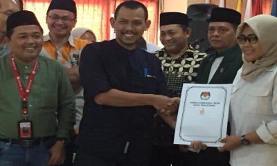 Ketua KPU Kota Tangerang Serahkan Berkas DCT
