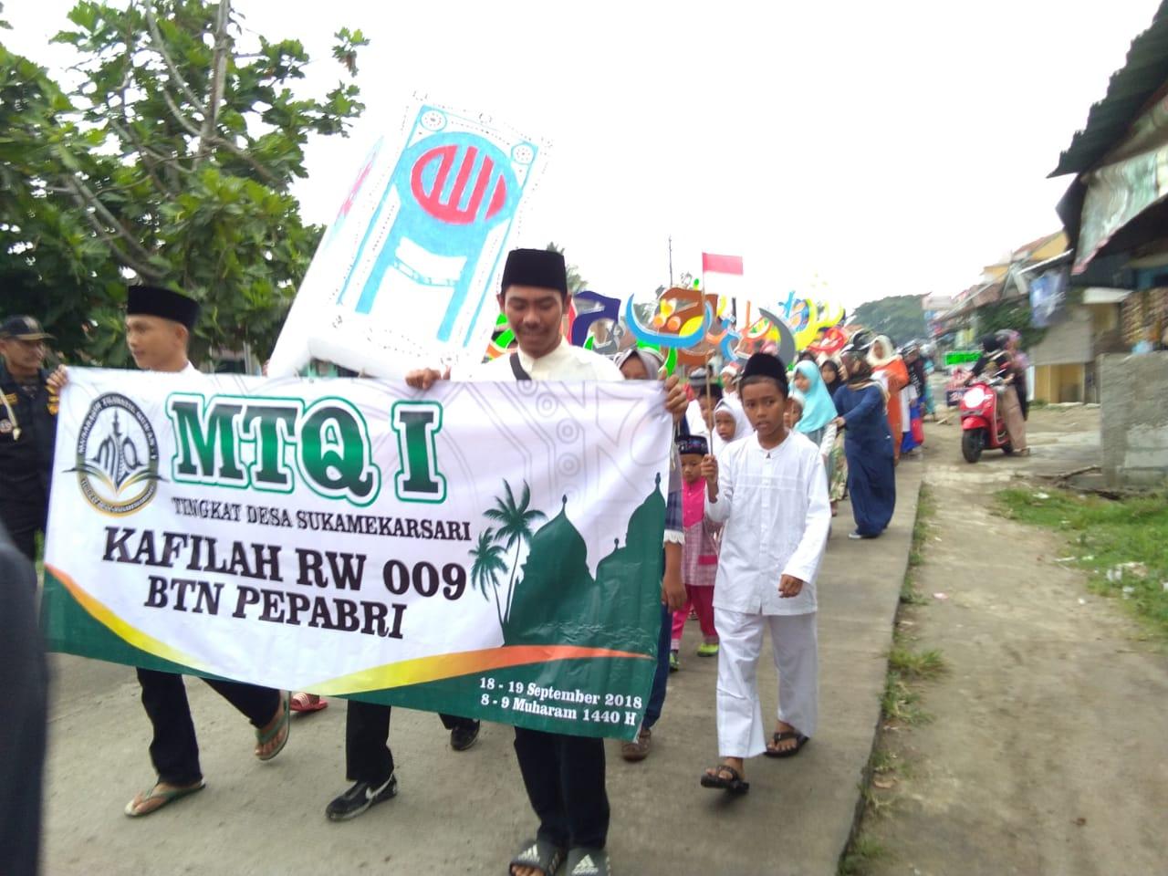 Pawai Taaruf MTQ Tingkat Desa Sukamekarsari