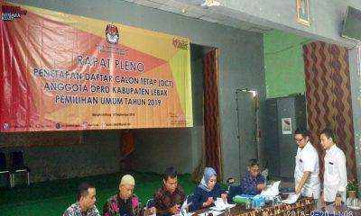 KPU Lebak Pleno DCT