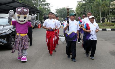 Tim Kirab Api Obor Porprov V Banten