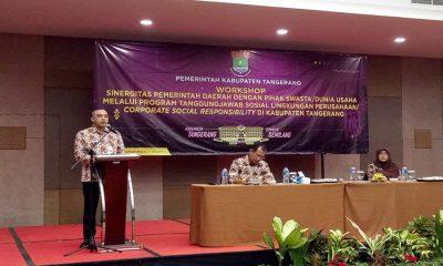 Bupati Tangerang Ahmed Zaki Iskandar Sambutan Forum CSR