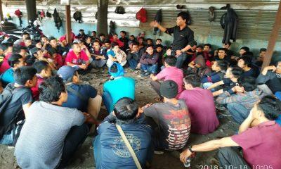 Karyawan PT Hengda Steel Indonesia Mogok Kerja