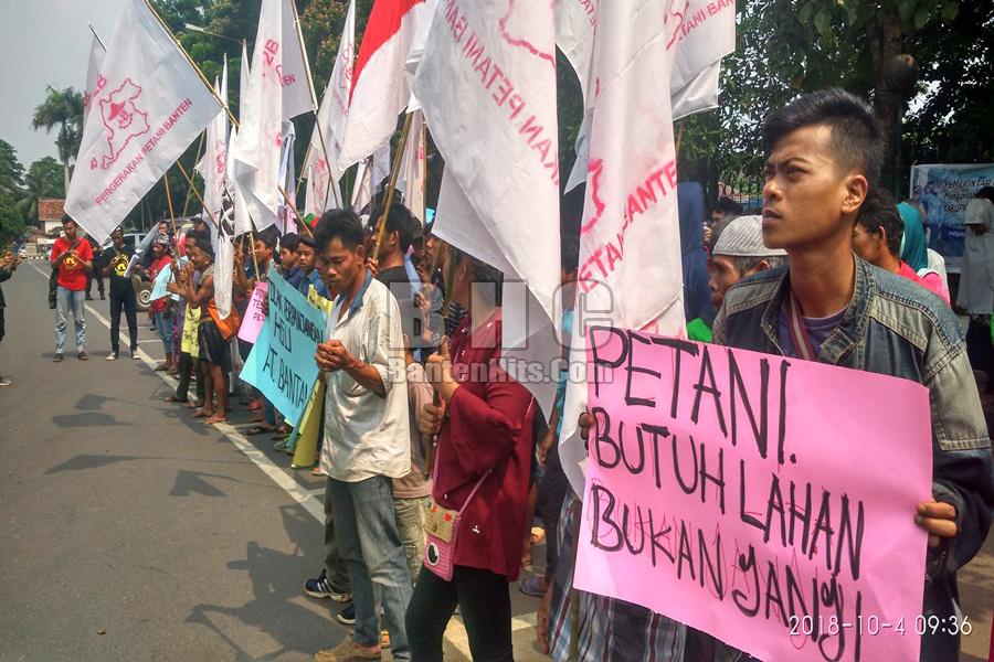 Demo Petani di Kabupaten Lebak soal Kahan HGU